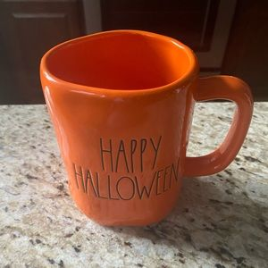 Rae Dunn Orange Happy Halloween Mug